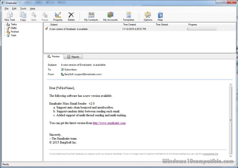 Emailsaler Bulk Email Sender 2 0 815 Free download